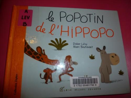 Livre le popotin de l'hippopo