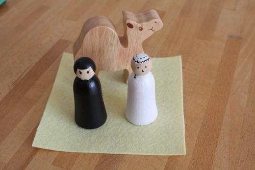 oman,figurine,bois,dromadaire