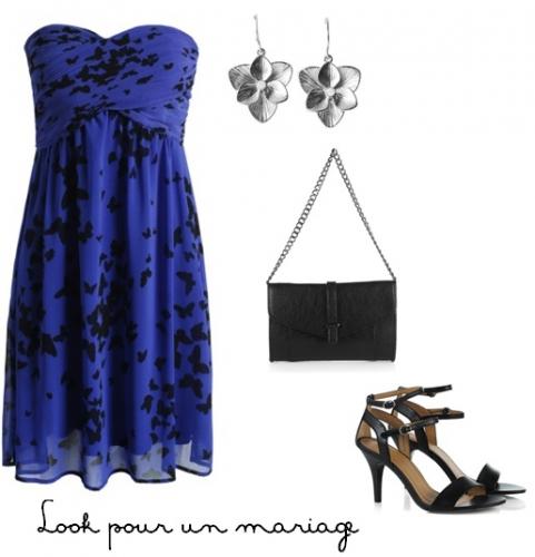 look,mariage,cérémonie,esprit,robe,bleue