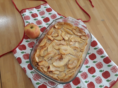 clafoutis,pomme,recette