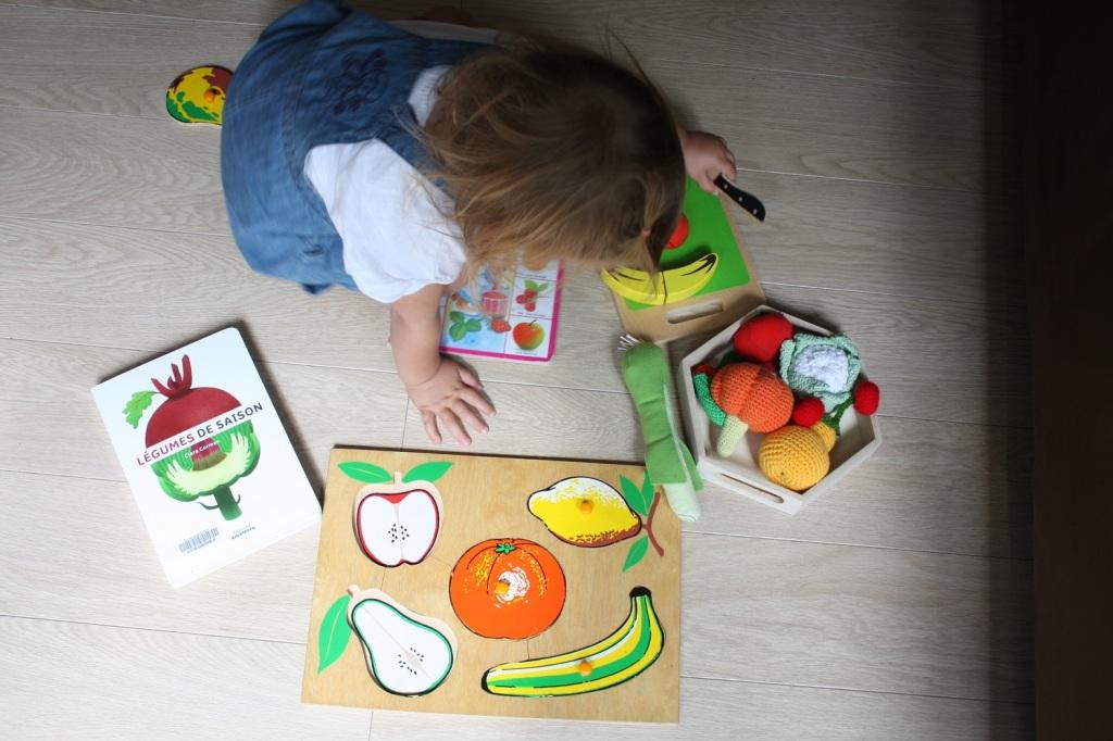 fruits et légumes,livre,puzzle
