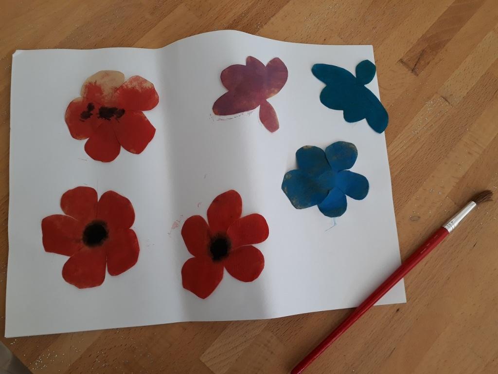 peinture,fleur,printemps,2-3 ans,6-8 ans