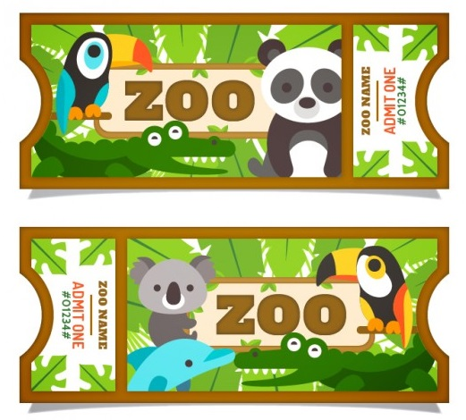 flat-pretty-animals-with-leaves-zoo-tickets_23-2147550727.jpg