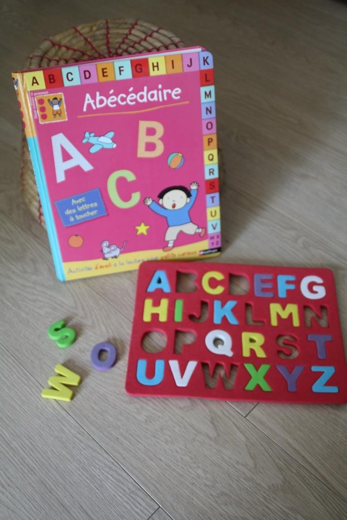 abécédaire,nathan,haut comme 3 pommes,lettres rugueuses,montessori,alphabet