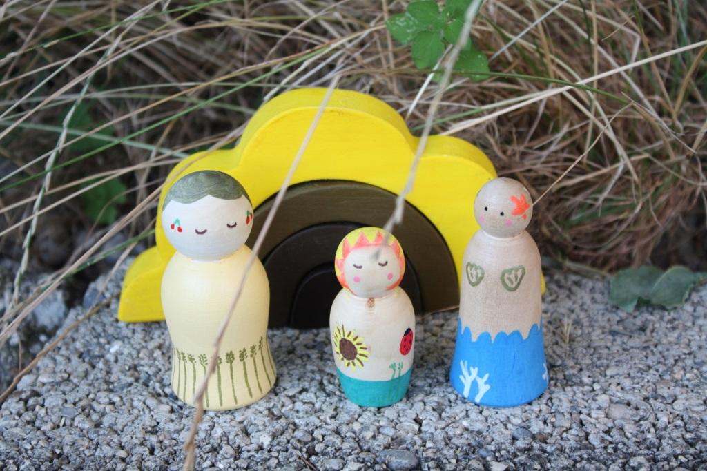 peg doll,figurine bois,saison,été